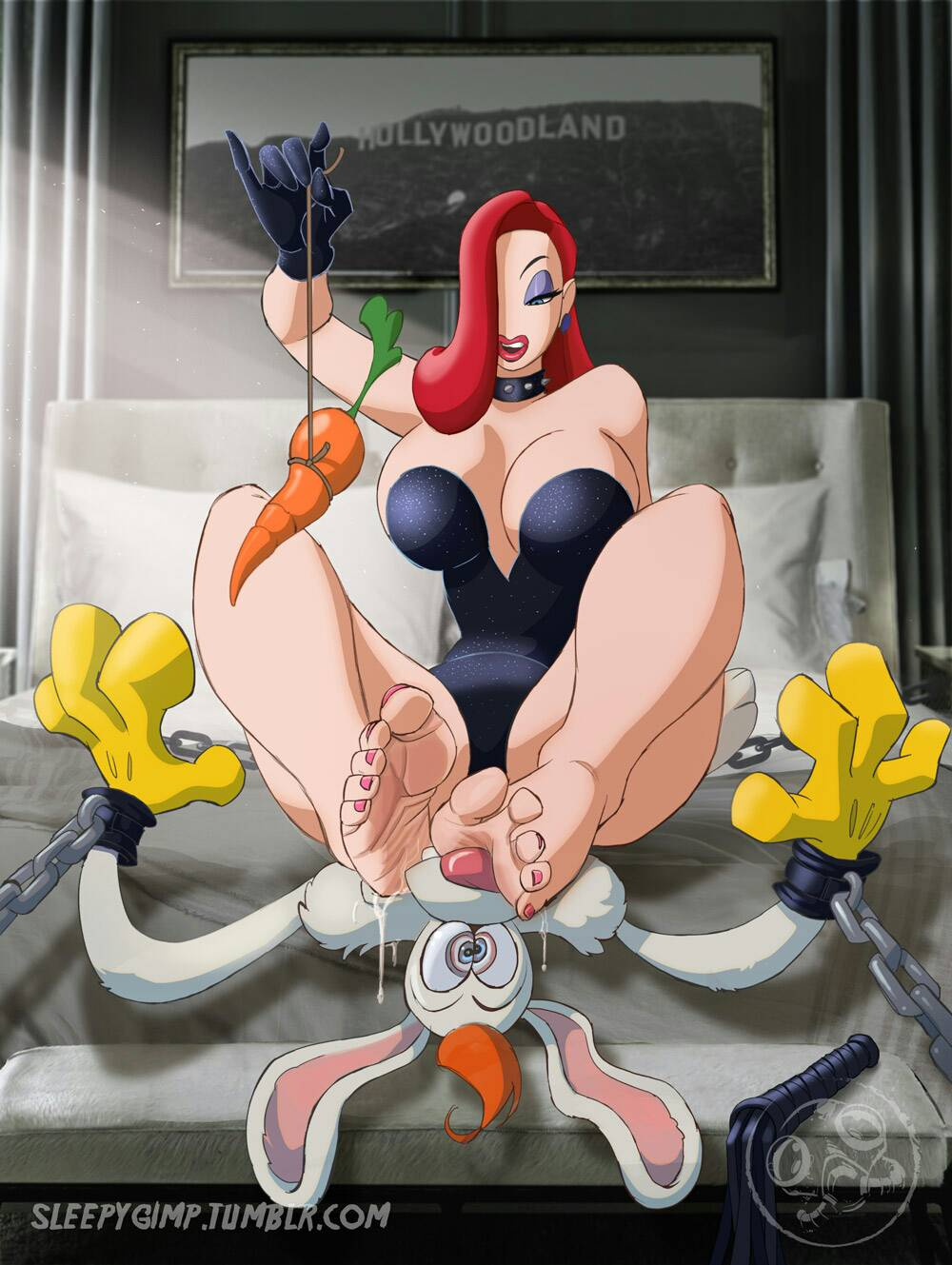 jessica framed commando rabbit roger rabbit who Project x love potion disaster animated gif