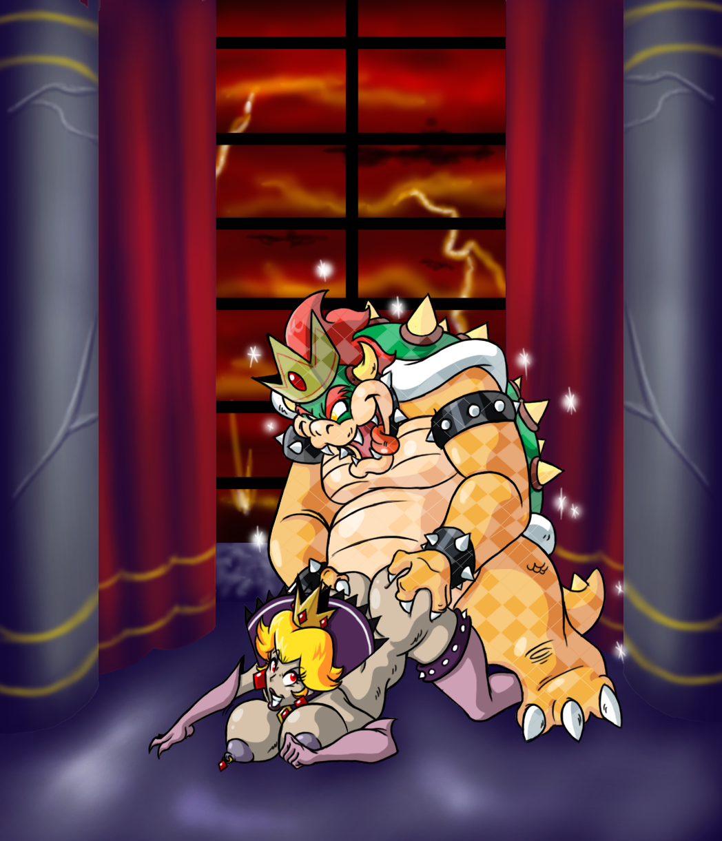 bed and in bowser peach Breath of the wild rubber outfit