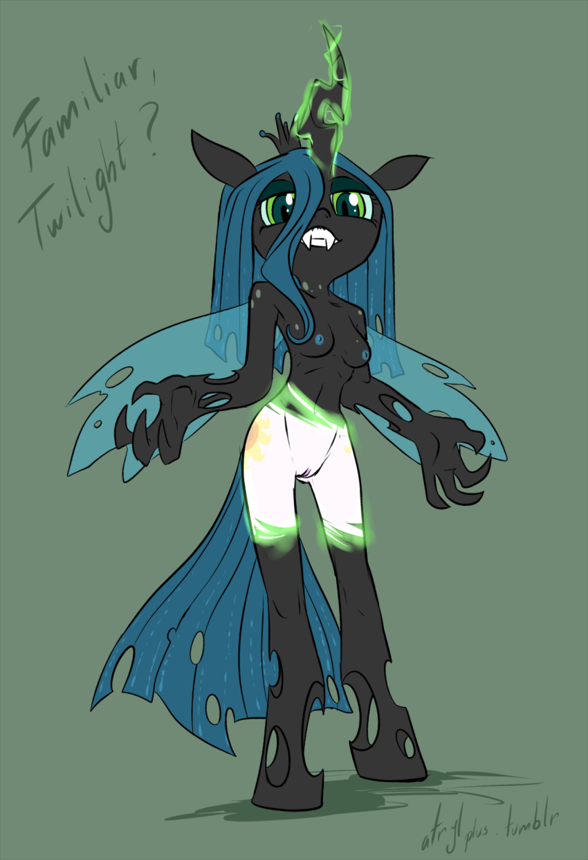 king chrysalis sombra x queen This is a scalie household